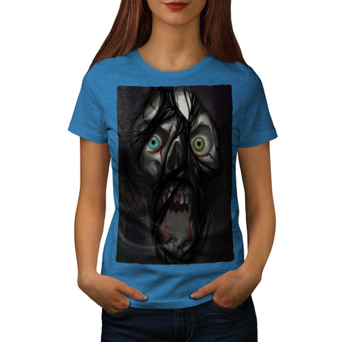 Scary Zombie Face Womens T-Shirt