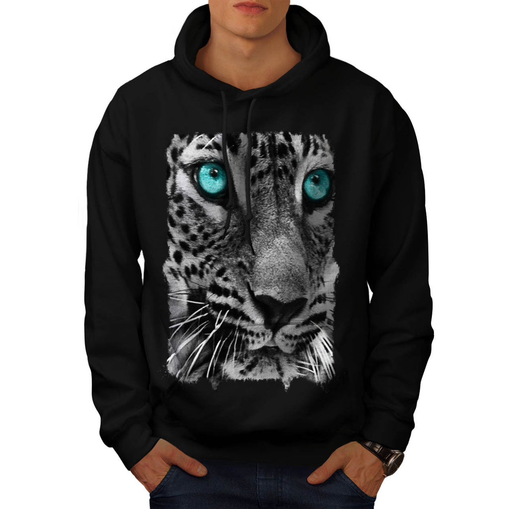 Cheetah Face Look Mens Hoodie