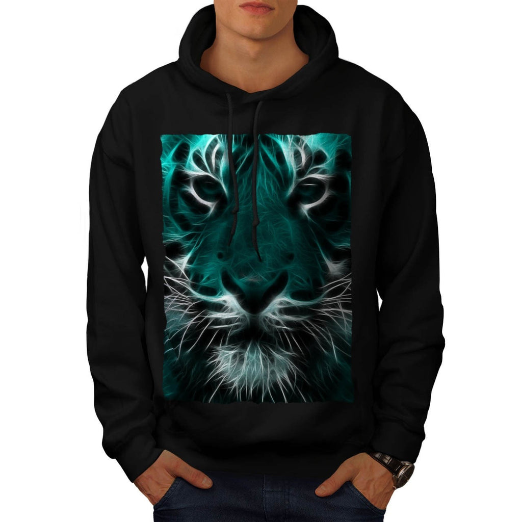 Animal Tiger Face Mens Hoodie
