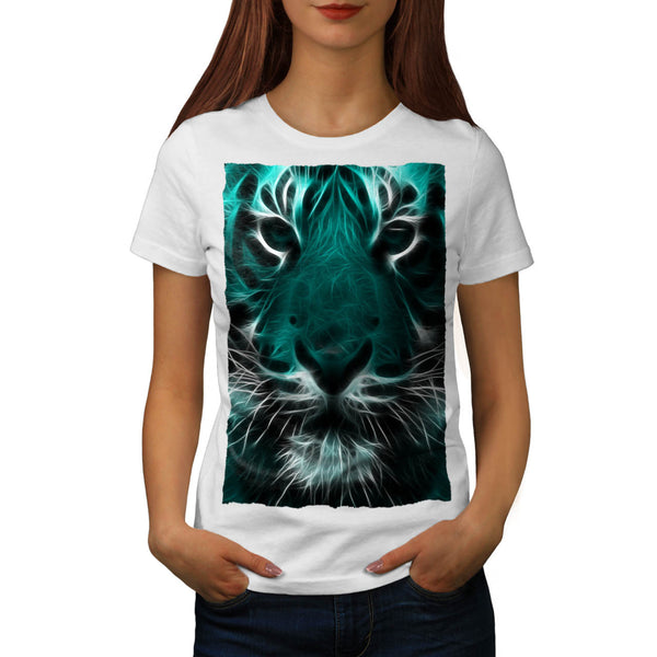 Animal Tiger Face Womens T-Shirt