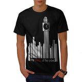 Barcode Clock Tower Mens T-Shirt