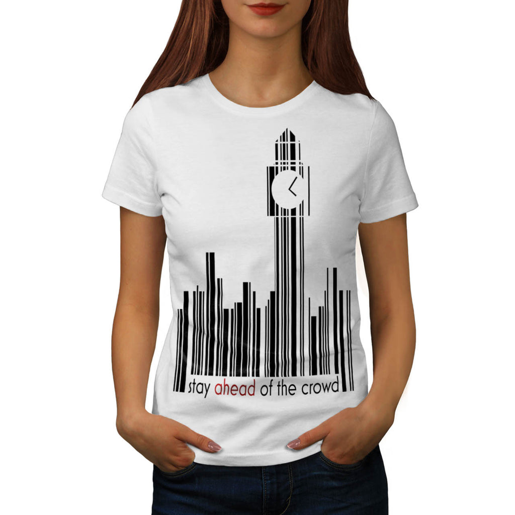 Barcode Clock Tower Womens T-Shirt