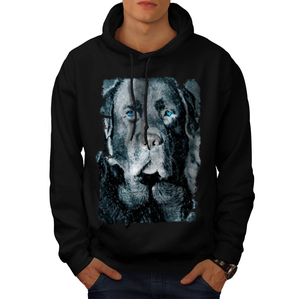Looking Dog Face Mens Hoodie