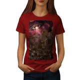 Zombie Alien Town Womens T-Shirt