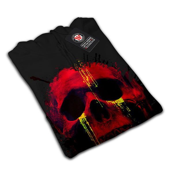 Skull Head Blood Art Mens Hoodie