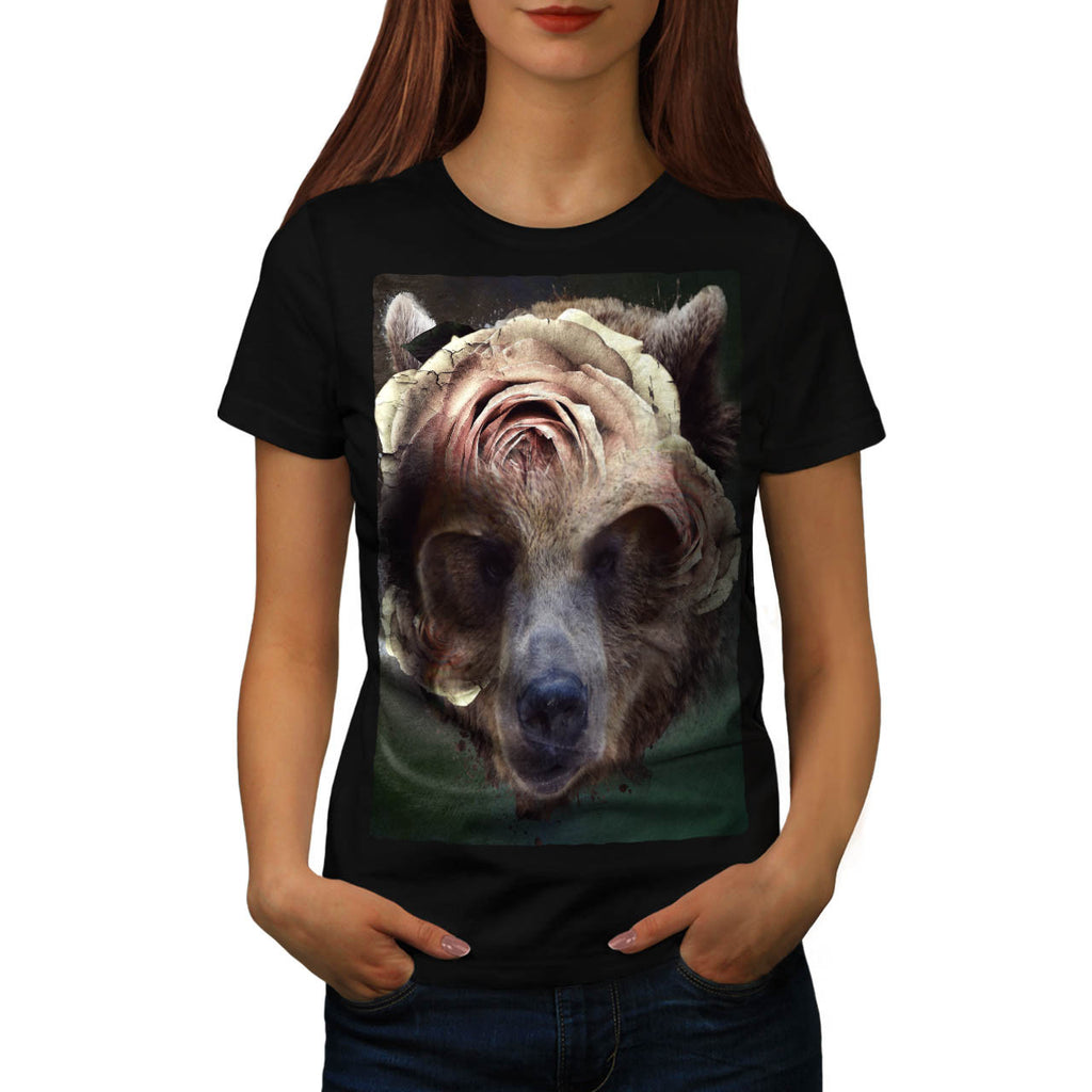 Bear Blossom Head Womens T-Shirt