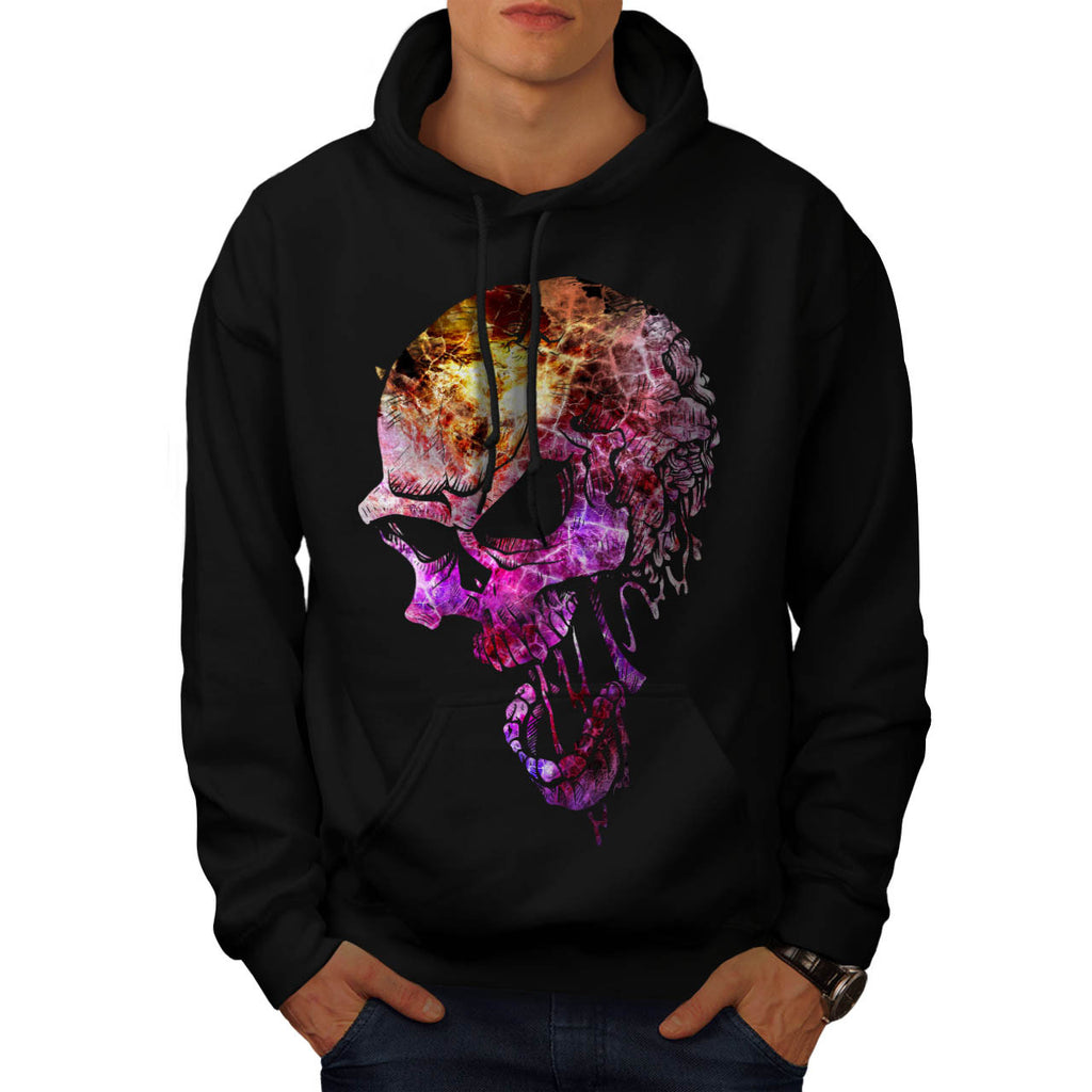Skull Head Sugar Art Mens Hoodie