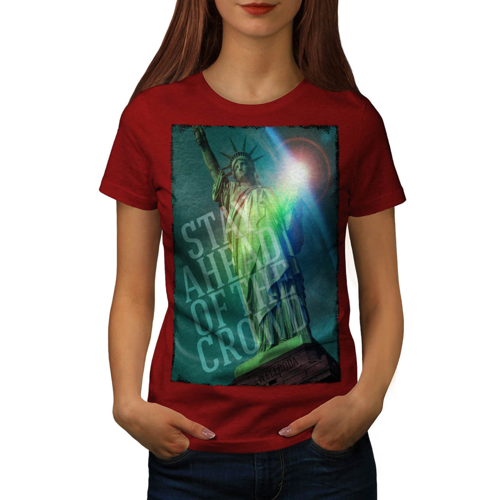 American Statue US Womens T-Shirt