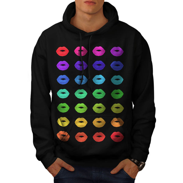 Lip Kissing Party Mens Hoodie