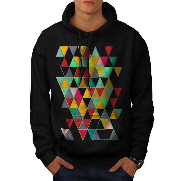 Triangle Prism Paint Mens Hoodie