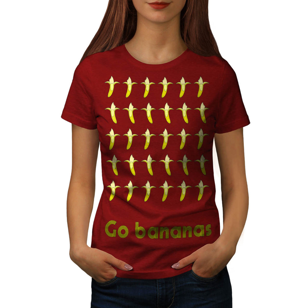 Go Banana Nuts Fun Womens T-Shirt