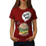 Bite Me Hungry Fun Womens T-Shirt