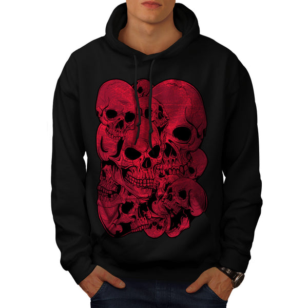 Skull Blood Cult Art Mens Hoodie