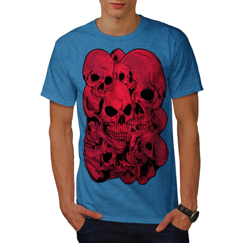Skull Blood Cult Art Mens T-Shirt