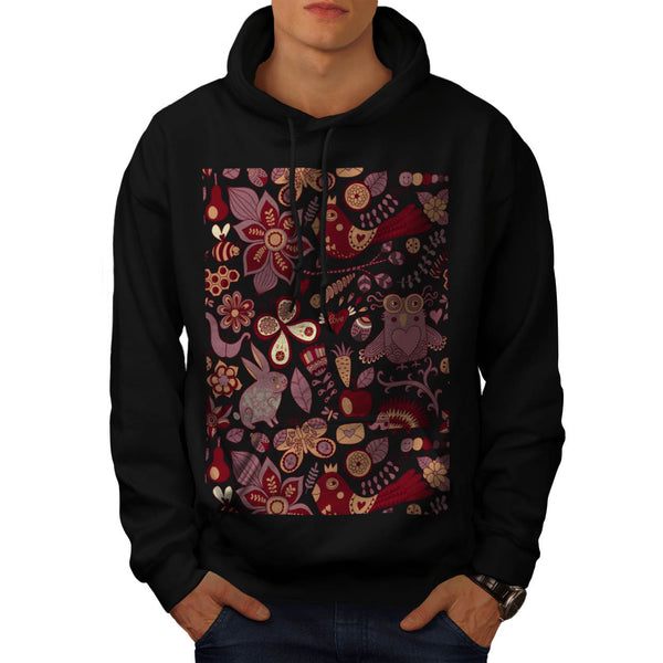 Happy Wild Nature Mens Hoodie