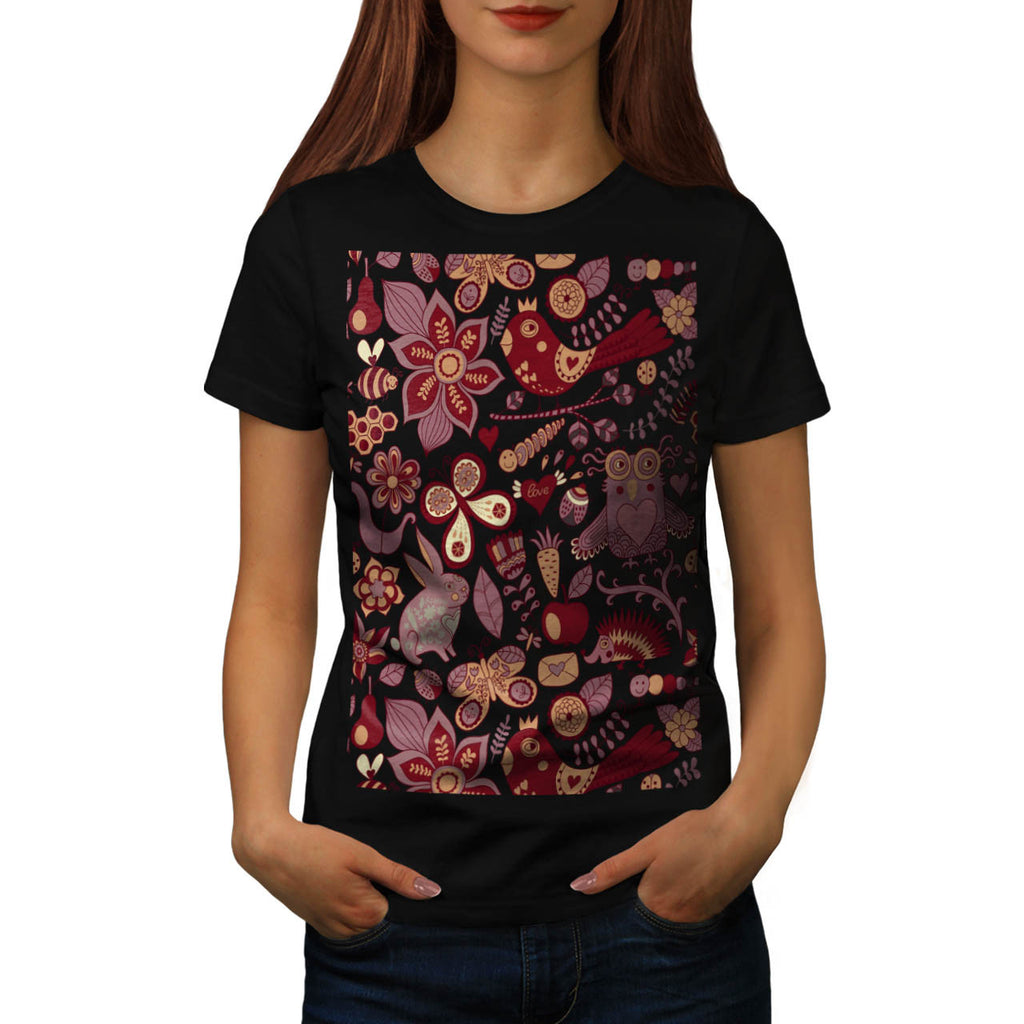 Happy Wild Nature Womens T-Shirt
