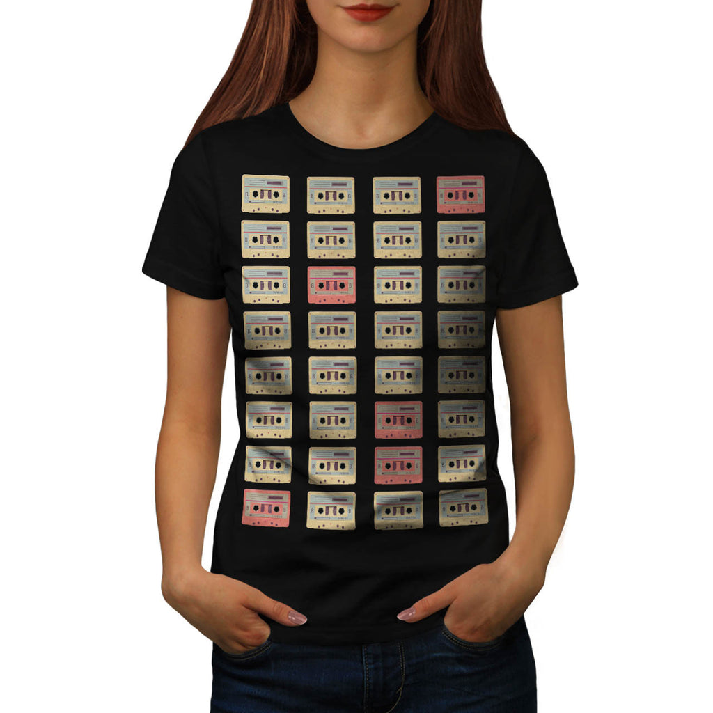 Cassette Fashion Womens T-Shirt