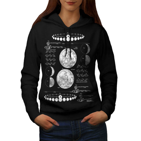 Stages of The Moon Womens Hoodie
