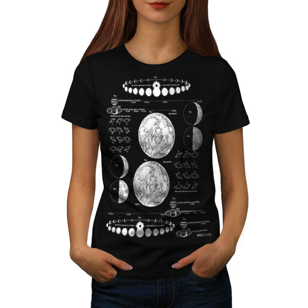 Stages of The Moon Womens T-Shirt