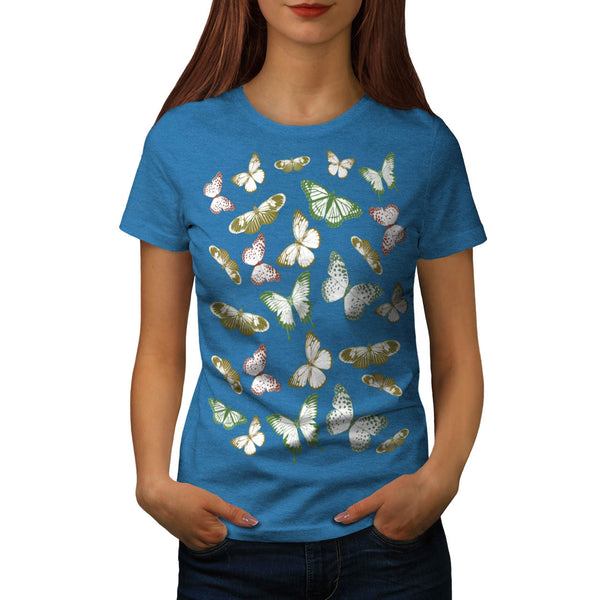 Butterfly Artwork Womens T-Shirt