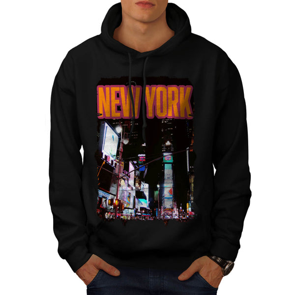 New York Night Life Mens Hoodie