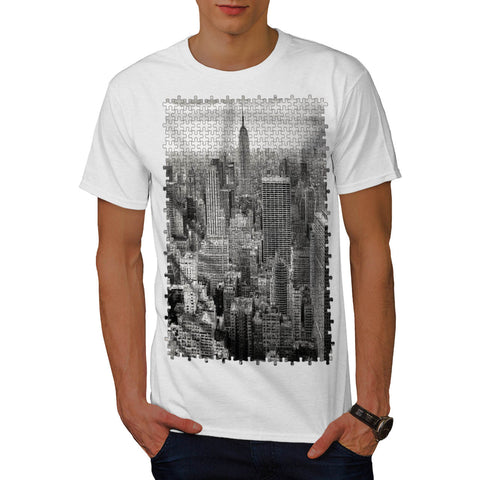 City Puzzle Style Mens T-Shirt