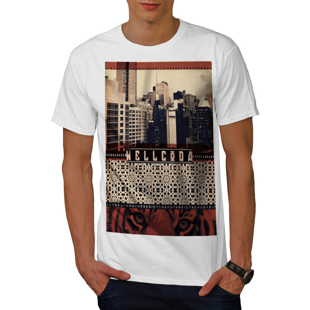Urban Tiger City Life Mens T-Shirt