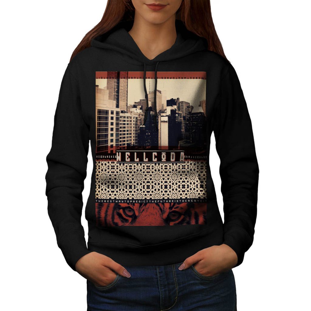 Urban Tiger City Life Womens Hoodie