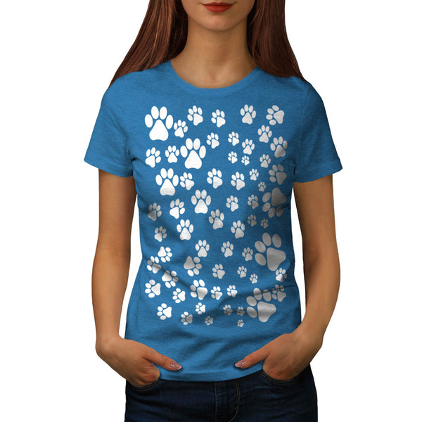 Multiple Footprint Womens T-Shirt