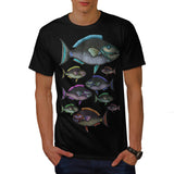 Multiple Fish Art Mens T-Shirt