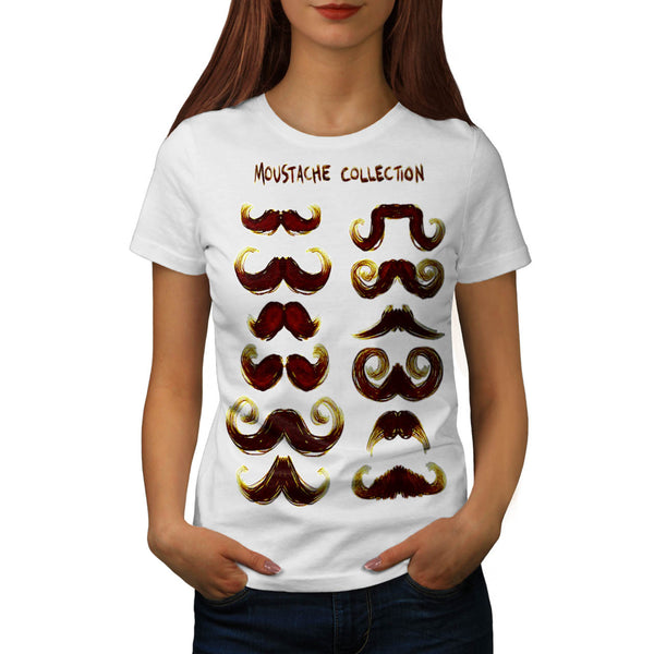 Moustache Collection Womens T-Shirt