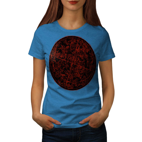 Zodiac Circle Art Womens T-Shirt