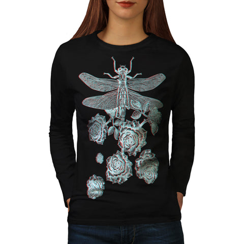 Dragonfly Blossom Womens Long Sleeve T-Shirt