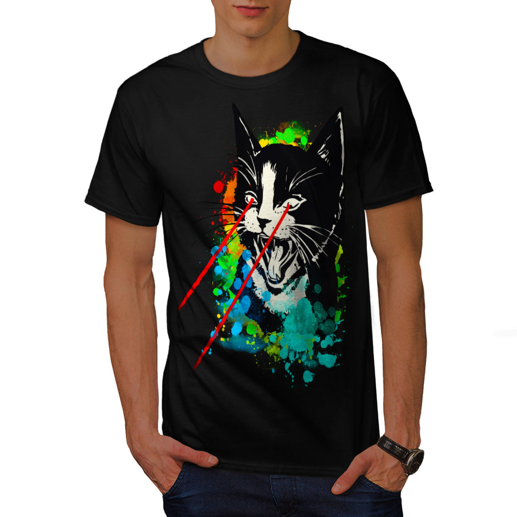 Wild Cat Laser Look Mens T-Shirt