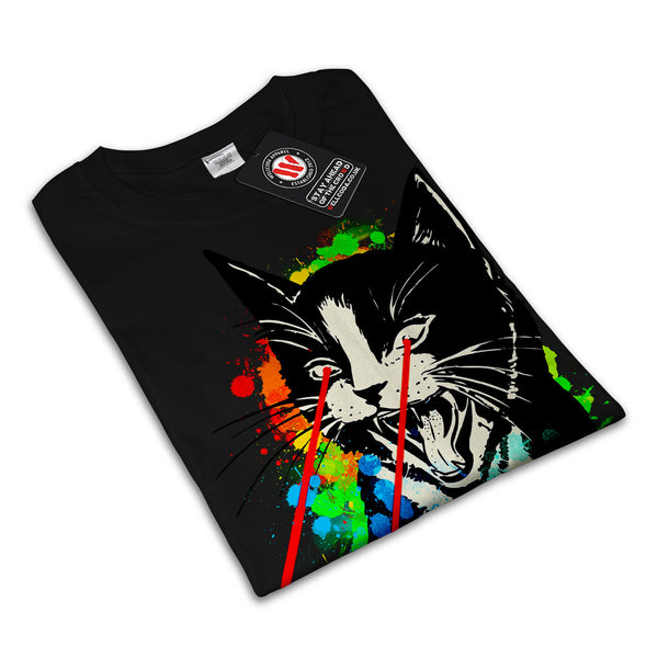 Wild Cat Laser Look Womens T-Shirt