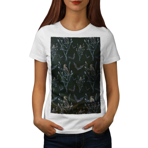 Crow Bird Design Womens T-Shirt