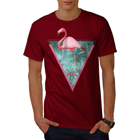 Flamingo Palm Beach Mens T-Shirt
