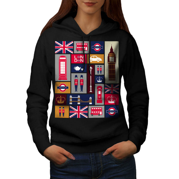 United Kingdom Love Womens Hoodie