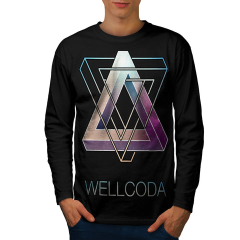 Triangle Prism Style Mens Long Sleeve T-Shirt