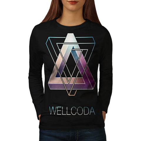 Triangle Prism Style Womens Long Sleeve T-Shirt