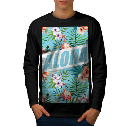 Aloha Hawaii Beach Mens Long Sleeve T-Shirt