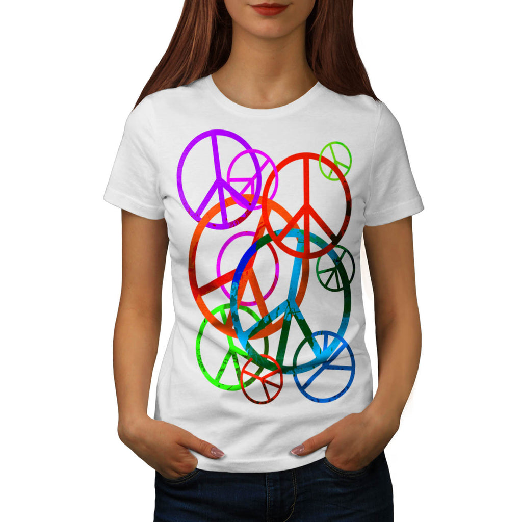 Peace And Love Only Womens T-Shirt