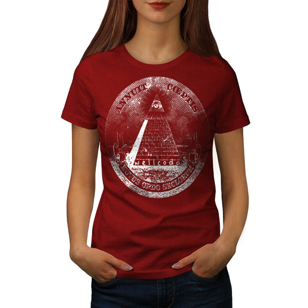 Illuminati Pyramid Womens T-Shirt