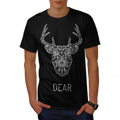 Dear Deer Stag Head Mens T-Shirt