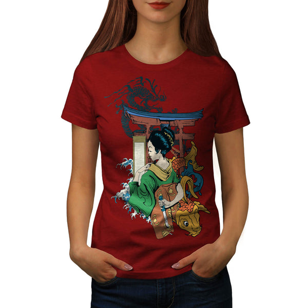 Japan Lady Style Womens T-Shirt