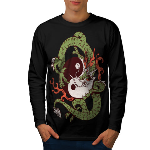 Dragon Yin Yang Art Mens Long Sleeve T-Shirt