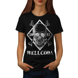 Skull Crossbones Head Womens T-Shirt