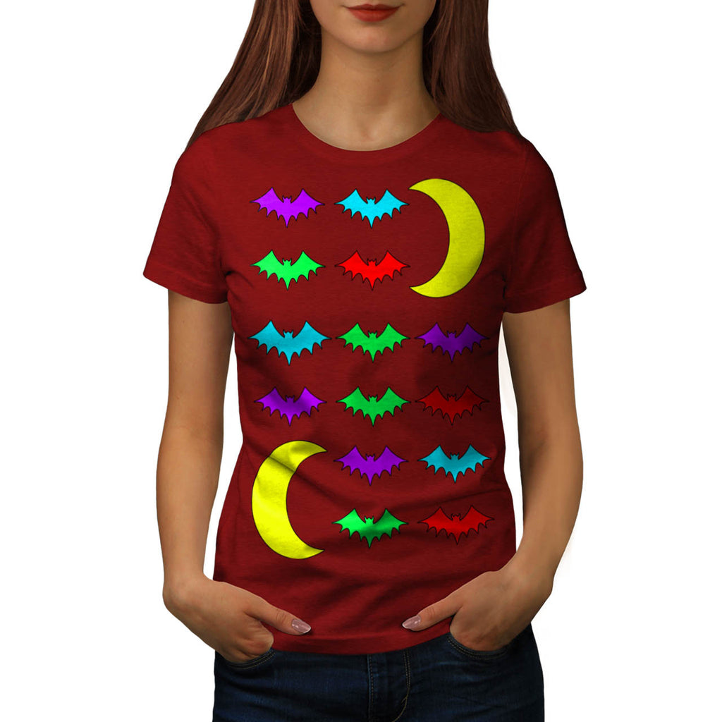 Bat In Moonlight Womens T-Shirt
