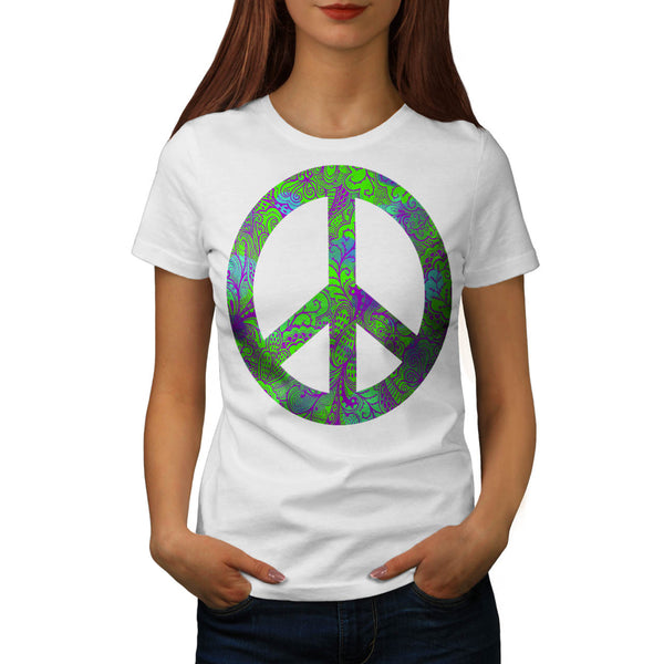 Hippie Peace Forever Womens T-Shirt