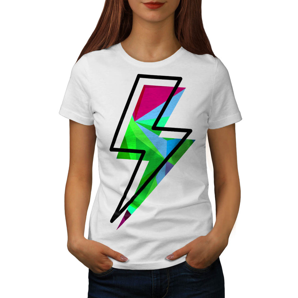 Lightining Bolt Sign Womens T-Shirt